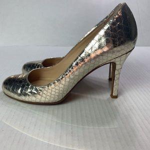 Kate Spade Siver Metallic Round-toe Pumps Size 6B